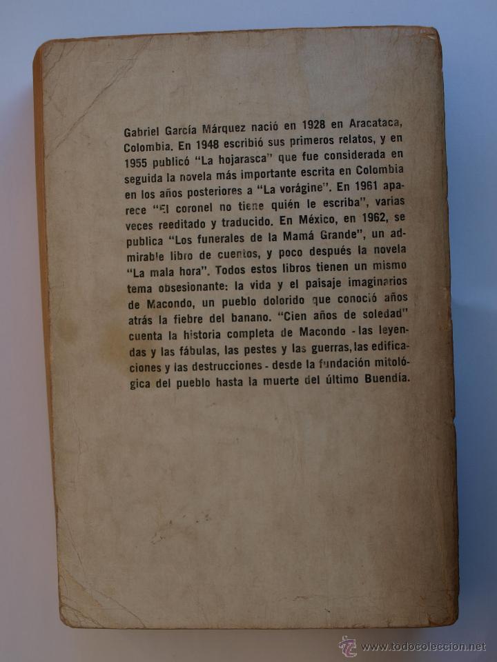 Libros antiguos: Gabriel García Márquez. Cien Años de Soledad. Primera edición. - Foto 3 - 49359861
