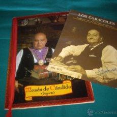 Libros antiguos: CARTAS RESTAURANTES - LOS CARACOLES - CASA CANDIDO. Lote 49393392