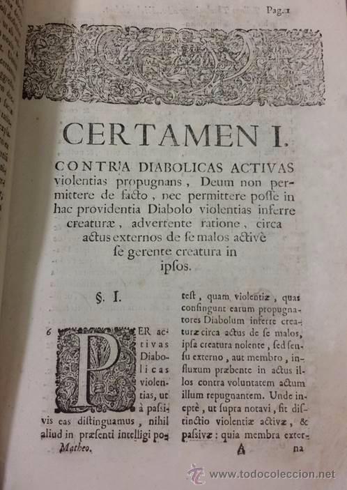 "Libros antiguos: EXORCISMOS: GONZÁLEZ MATEO, Diego- ""Bellum Theologicum adversas Diabolicas Violentias""-SIGLO XVIII - Foto 10 - 49294679"