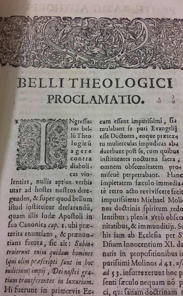 "Libros antiguos: EXORCISMOS: GONZÁLEZ MATEO, Diego- ""Bellum Theologicum adversas Diabolicas Violentias""-SIGLO XVIII - Foto 11 - 49294679"