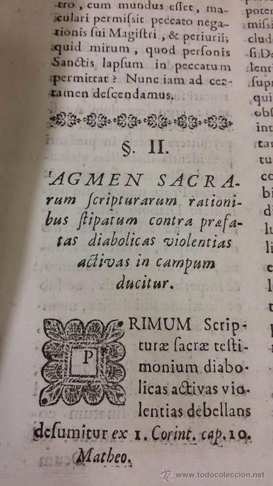 "Libros antiguos: EXORCISMOS: GONZÁLEZ MATEO, Diego- ""Bellum Theologicum adversas Diabolicas Violentias""-SIGLO XVIII - Foto 13 - 49294679"