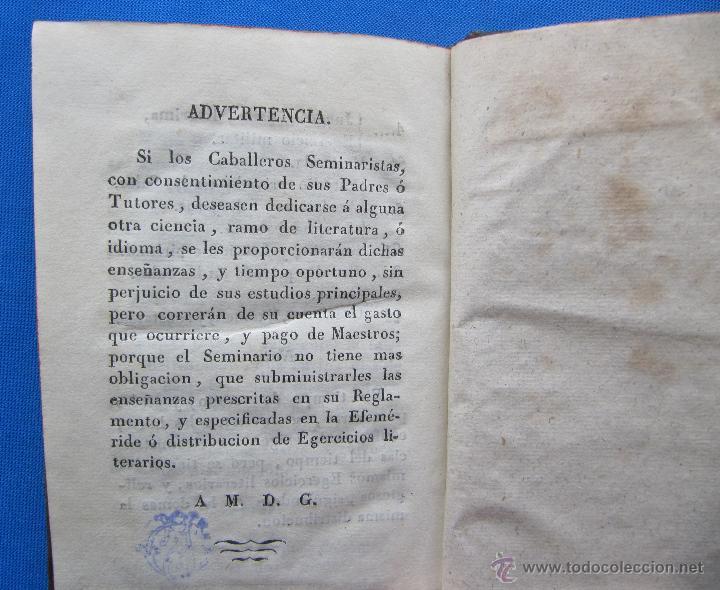 Libros antiguos: REGLAMENTO PARA EL REAL SEMINARIO DE NOBLES DE LA CIUDAD DE VALENCIA. POR D. FRANCISCO BRUSOLA, 1829 - Foto 8 - 49416642