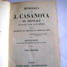 Libros antiguos: MEMORIAS DE CASANOVA. AÑOS 20. ENVIO INCLUIDO EN EL PRECIO.. Lote 49416690