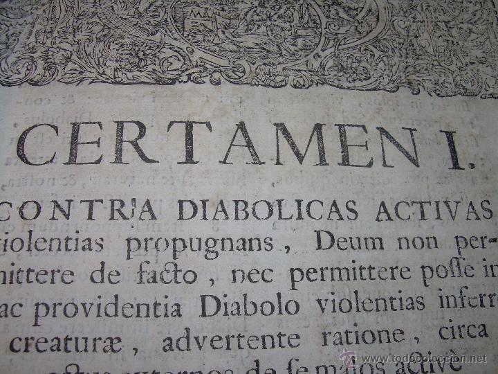 "Libros antiguos: EXORCISMOS: GONZÁLEZ MATEO, Diego- ""Bellum Theologicum adversas Diabolicas Violentias""-SIGLO XVIII - Foto 19 - 49294679"