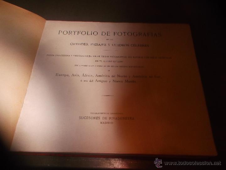 Libros antiguos: CURIOSO LIBRO DE FOTOGRABADOS ORIGINALES DE PRINCIPIOS DEL SIGLO XX EXPO - Foto 2 - 49431358
