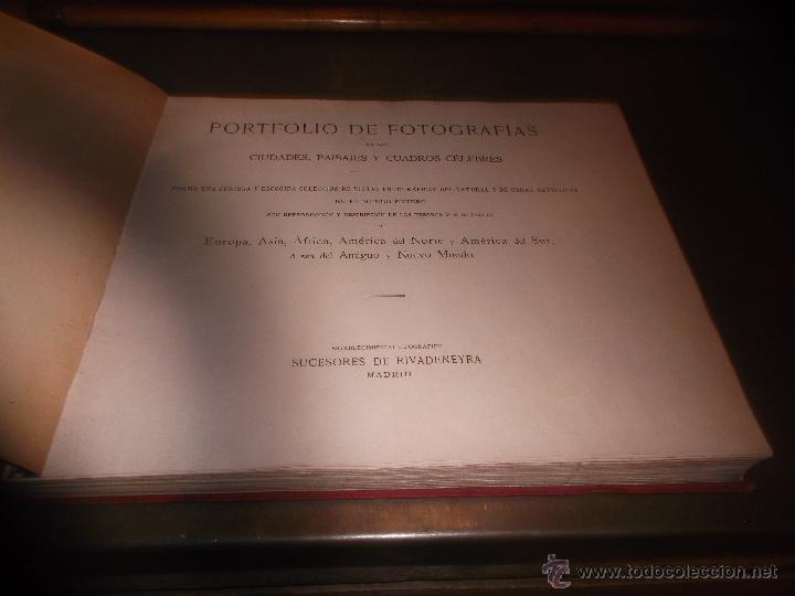 Libros antiguos: CURIOSO LIBRO DE FOTOGRABADOS ORIGINALES DE PRINCIPIOS DEL SIGLO XX EXPO - Foto 3 - 49431358