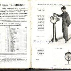 Libros antiguos: MANUFACTURA ESPAÑOLA DE EFECTOS NAVALES MONTURIOL. BARCELONA 1920. Lote 49487607
