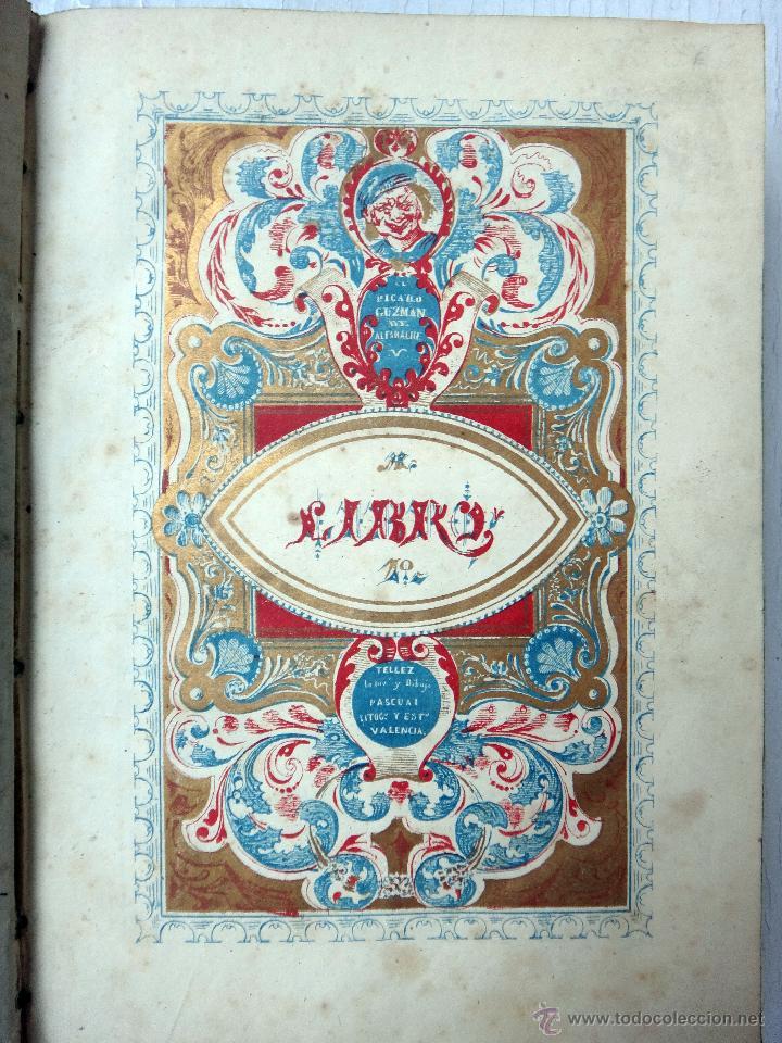 LIBRO GUZMAN DE ALFARACHE EL PICARO , 2 LIBROS EN 1, , ORIGINAL (Libros antiguos (hasta 1936), raros y curiosos - Literatura - Narrativa - Otros)