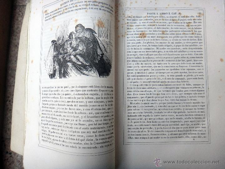 Libros antiguos: LIBRO GUZMAN DE ALFARACHE EL PICARO , 2 LIBROS EN 1, , ORIGINAL - Foto 4 - 49513388
