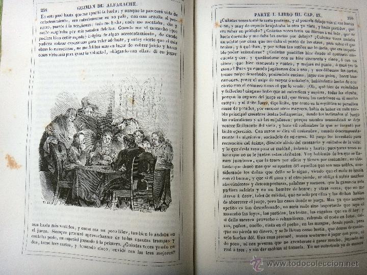 Libros antiguos: LIBRO GUZMAN DE ALFARACHE EL PICARO , 2 LIBROS EN 1, , ORIGINAL - Foto 7 - 49513388