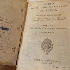 Libros antiguos: ANTIGUO LIBRO DE CURSO DE ESTUDIOS ELEMENTALES DE LA MARINA. Lote 49528867