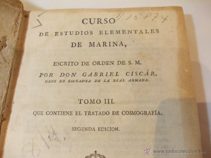 Libros antiguos: ANTIGUO LIBRO DE CURSO DE ESTUDIOS ELEMENTALES DE LA MARINA - Foto 2 - 49528867
