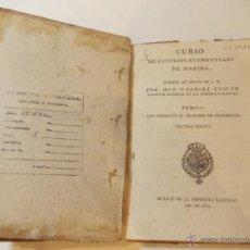Libros antiguos: ANTIGUO LIBRO DE CURSO DE ESTUDIOS ELEMENTALES DE LA MARINA. Lote 49529096