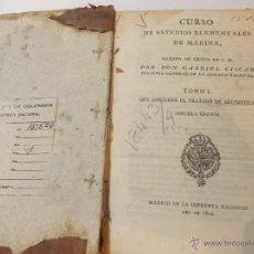 Libros antiguos: ANTIGUO LIBRO DE CURSO DE ESTUDIOS ELEMENTALES DE LA MARINA. Lote 49529170