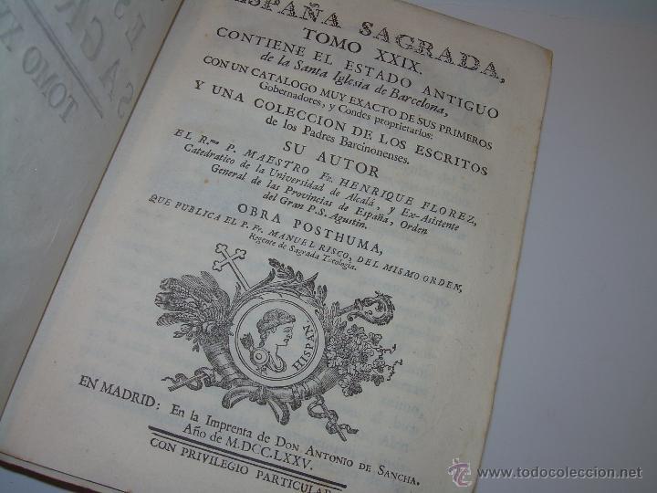 Libros antiguos: IMPORTANTE LIBRO DE PERGAMINO.ESPAÑA SAGRADA...BARCELONA...GOBERNADORES, CONDES, OBISPOS, SANTOS ETC - Foto 3 - 49540933