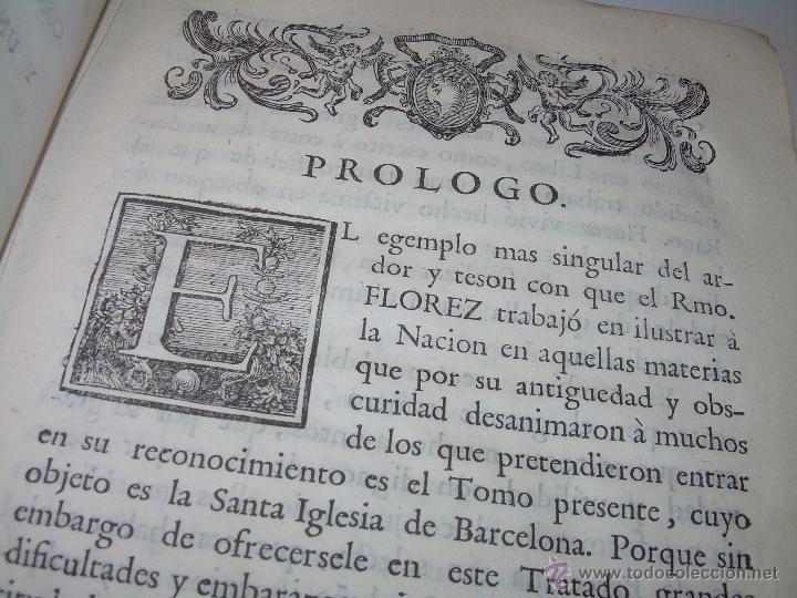 Libros antiguos: IMPORTANTE LIBRO DE PERGAMINO.ESPAÑA SAGRADA...BARCELONA...GOBERNADORES, CONDES, OBISPOS, SANTOS ETC - Foto 6 - 49540933