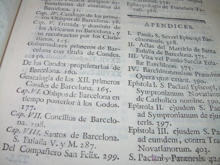 Libros antiguos: IMPORTANTE LIBRO DE PERGAMINO.ESPAÑA SAGRADA...BARCELONA...GOBERNADORES, CONDES, OBISPOS, SANTOS ETC - Foto 8 - 49540933