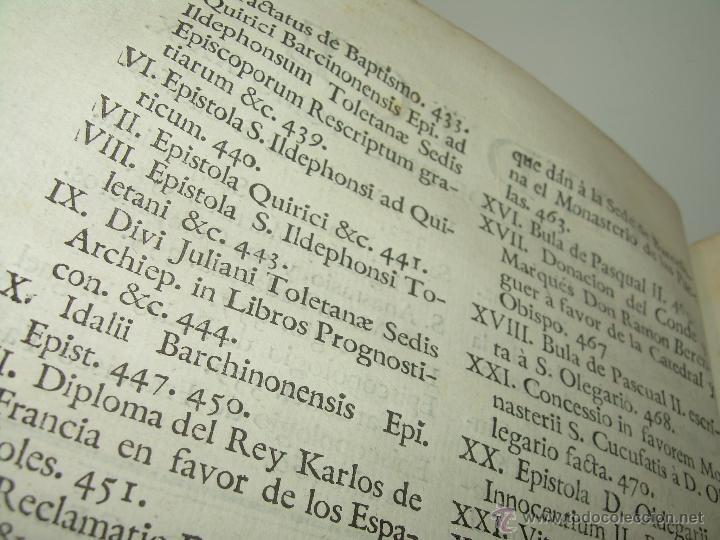 Libros antiguos: IMPORTANTE LIBRO DE PERGAMINO.ESPAÑA SAGRADA...BARCELONA...GOBERNADORES, CONDES, OBISPOS, SANTOS ETC - Foto 9 - 49540933