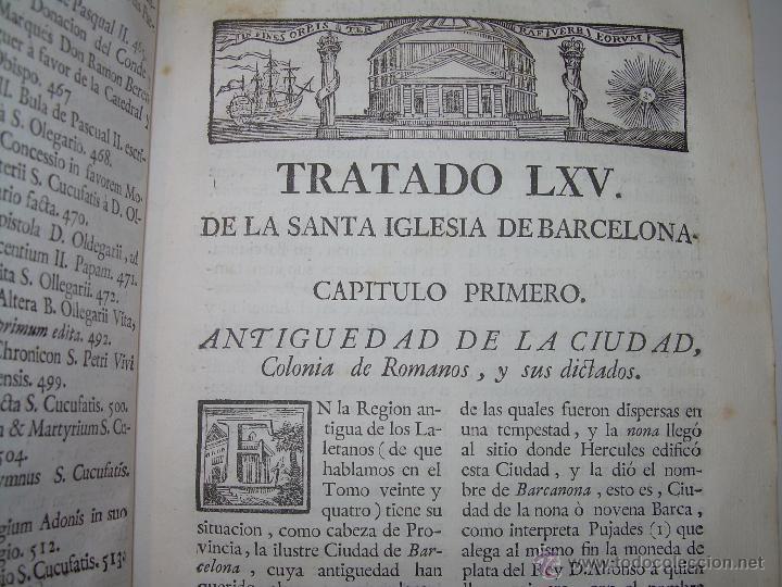 Libros antiguos: IMPORTANTE LIBRO DE PERGAMINO.ESPAÑA SAGRADA...BARCELONA...GOBERNADORES, CONDES, OBISPOS, SANTOS ETC - Foto 13 - 49540933