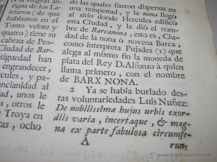 Libros antiguos: IMPORTANTE LIBRO DE PERGAMINO.ESPAÑA SAGRADA...BARCELONA...GOBERNADORES, CONDES, OBISPOS, SANTOS ETC - Foto 14 - 49540933