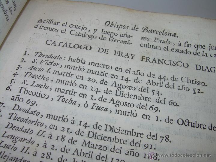 Libros antiguos: IMPORTANTE LIBRO DE PERGAMINO.ESPAÑA SAGRADA...BARCELONA...GOBERNADORES, CONDES, OBISPOS, SANTOS ETC - Foto 16 - 49540933
