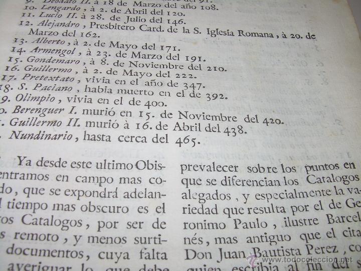 Libros antiguos: IMPORTANTE LIBRO DE PERGAMINO.ESPAÑA SAGRADA...BARCELONA...GOBERNADORES, CONDES, OBISPOS, SANTOS ETC - Foto 17 - 49540933