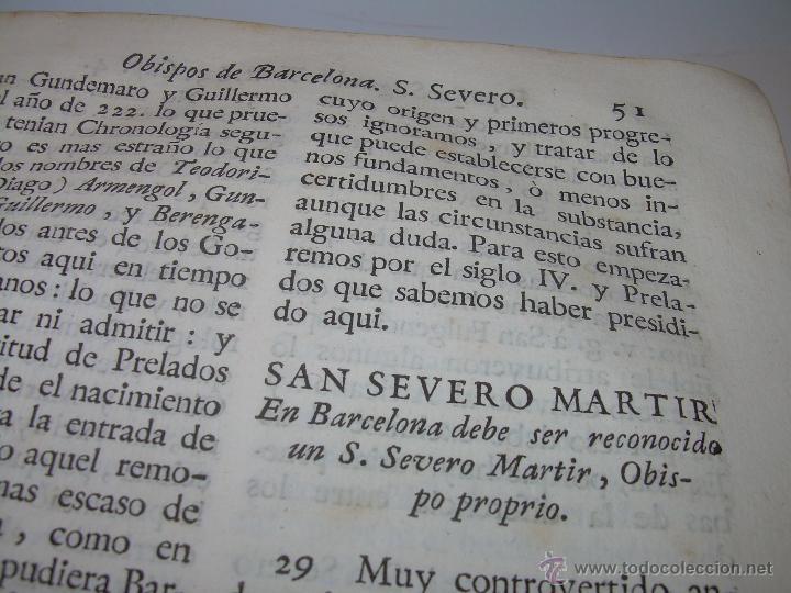 Libros antiguos: IMPORTANTE LIBRO DE PERGAMINO.ESPAÑA SAGRADA...BARCELONA...GOBERNADORES, CONDES, OBISPOS, SANTOS ETC - Foto 18 - 49540933