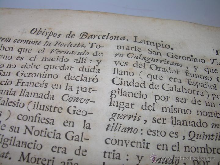 Libros antiguos: IMPORTANTE LIBRO DE PERGAMINO.ESPAÑA SAGRADA...BARCELONA...GOBERNADORES, CONDES, OBISPOS, SANTOS ETC - Foto 19 - 49540933