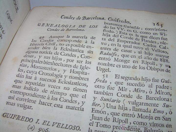 Libros antiguos: IMPORTANTE LIBRO DE PERGAMINO.ESPAÑA SAGRADA...BARCELONA...GOBERNADORES, CONDES, OBISPOS, SANTOS ETC - Foto 22 - 49540933