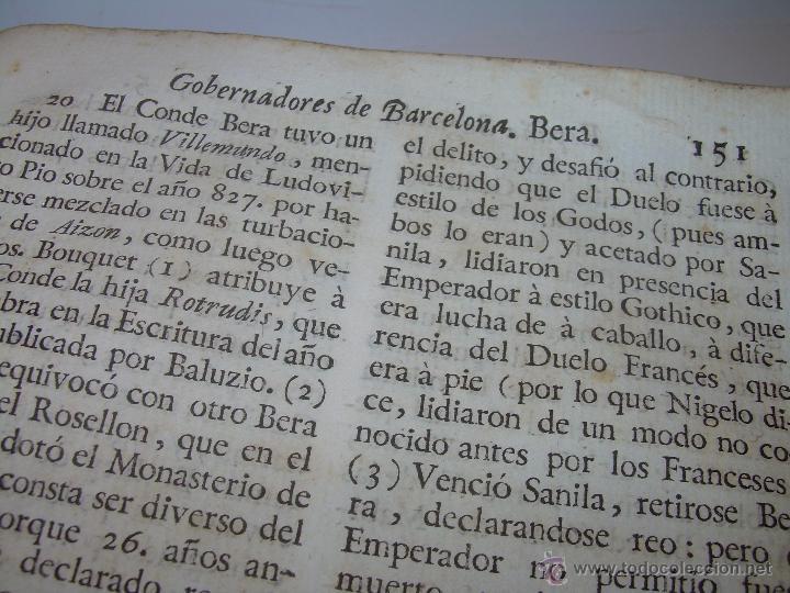 Libros antiguos: IMPORTANTE LIBRO DE PERGAMINO.ESPAÑA SAGRADA...BARCELONA...GOBERNADORES, CONDES, OBISPOS, SANTOS ETC - Foto 25 - 49540933