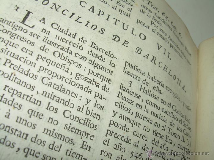 Libros antiguos: IMPORTANTE LIBRO DE PERGAMINO.ESPAÑA SAGRADA...BARCELONA...GOBERNADORES, CONDES, OBISPOS, SANTOS ETC - Foto 29 - 49540933