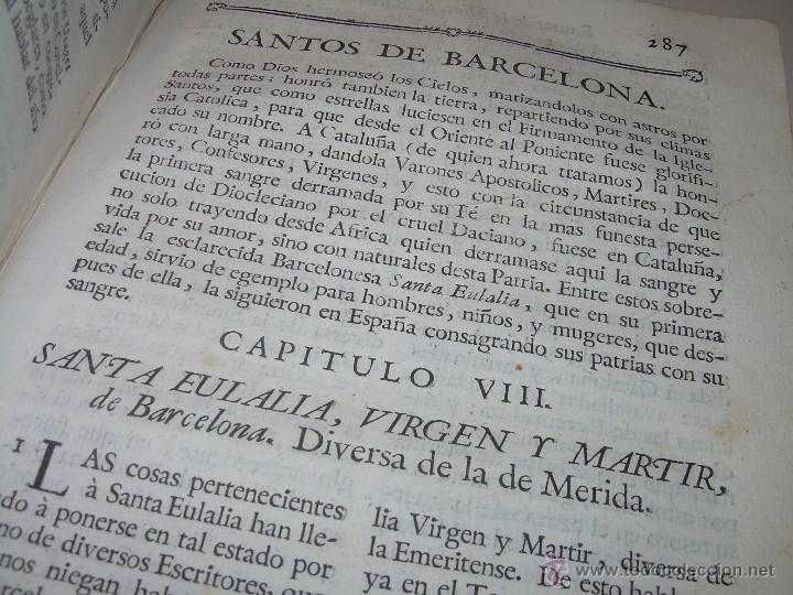 Libros antiguos: IMPORTANTE LIBRO DE PERGAMINO.ESPAÑA SAGRADA...BARCELONA...GOBERNADORES, CONDES, OBISPOS, SANTOS ETC - Foto 30 - 49540933