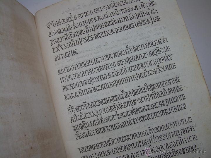 Libros antiguos: IMPORTANTE LIBRO DE PERGAMINO.ESPAÑA SAGRADA...BARCELONA...GOBERNADORES, CONDES, OBISPOS, SANTOS ETC - Foto 34 - 49540933