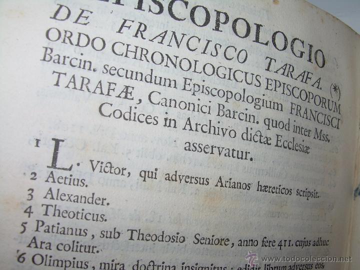 Libros antiguos: IMPORTANTE LIBRO DE PERGAMINO.ESPAÑA SAGRADA...BARCELONA...GOBERNADORES, CONDES, OBISPOS, SANTOS ETC - Foto 36 - 49540933