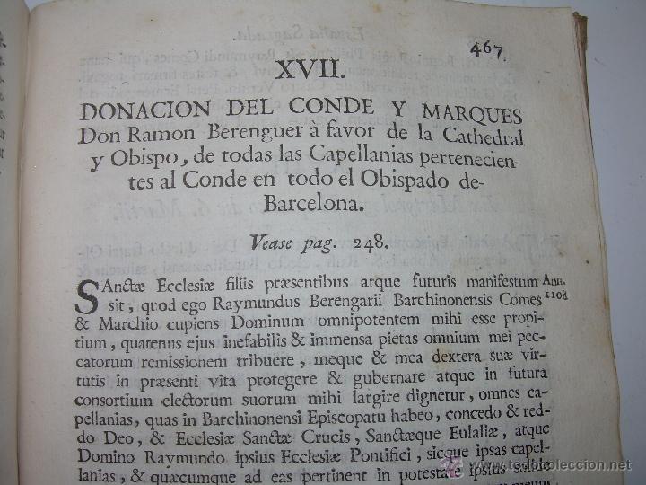 Libros antiguos: IMPORTANTE LIBRO DE PERGAMINO.ESPAÑA SAGRADA...BARCELONA...GOBERNADORES, CONDES, OBISPOS, SANTOS ETC - Foto 37 - 49540933