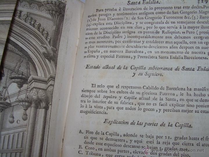 Libros antiguos: IMPORTANTE LIBRO DE PERGAMINO.ESPAÑA SAGRADA...BARCELONA...GOBERNADORES, CONDES, OBISPOS, SANTOS ETC - Foto 39 - 49540933