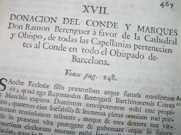 Libros antiguos: IMPORTANTE LIBRO DE PERGAMINO.ESPAÑA SAGRADA...BARCELONA...GOBERNADORES, CONDES, OBISPOS, SANTOS ETC - Foto 44 - 49540933