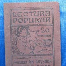 Libros antiguos: LA LEYENDA DE NOCHE BUENA. CARLOS DIKENS DICKENS. LECTURA POPULAR AÑO I, Nº 4. MADRID, 1907.. Lote 49556038