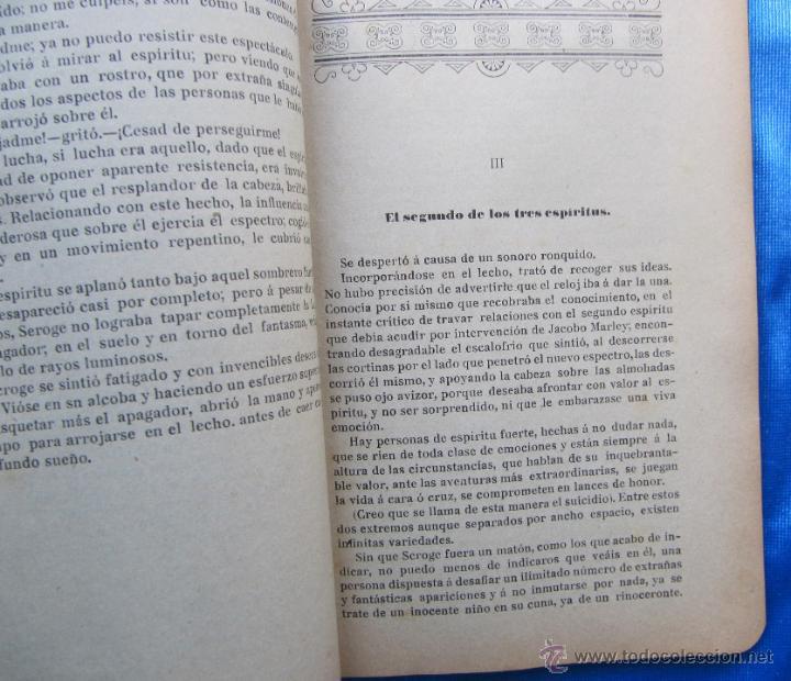 Libros antiguos: LA LEYENDA DE NOCHE BUENA. CARLOS DIKENS DICKENS. LECTURA POPULAR AÑO I, Nº 4. MADRID, 1907. - Foto 3 - 49556038