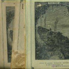 Libros antiguos: JULIO VERNE : LA JANGADA - 800 LEGUAS POR EL AMAZONAS (JUBERA, C. 1900) CUATRO VOLÚMENES. Lote 52299612