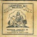 Libros antiguos: SCHMID : GENOVEVA DE BRABANT (VIROLET, S/D) EN CATALÁN - RUYRA / D'IVORI. Lote 49587319