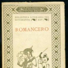 Libros antiguos: ROMANCERO 1936 - GONZALO MENÉNDEZ PIDAL. Lote 49604259