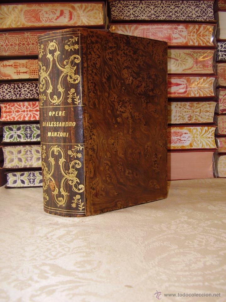 OPERE COMPLETE DI ALESSANDRO MANZONI CON UN DISCORSO PRELIMINARE DI N. 3 TEILE IN 1 BAND . (Libros antiguos (hasta 1936), raros y curiosos - Literatura - Narrativa - Otros)