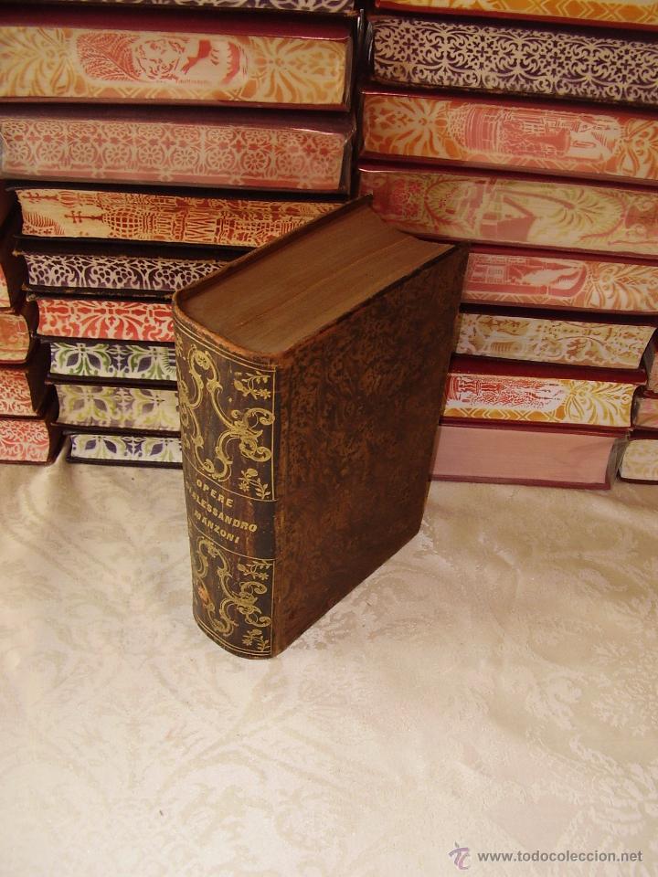 Libros antiguos: Opere Complete di Alessandro Manzoni con un discorso preliminare di N. 3 Teile in 1 Band . - Foto 2 - 49609708