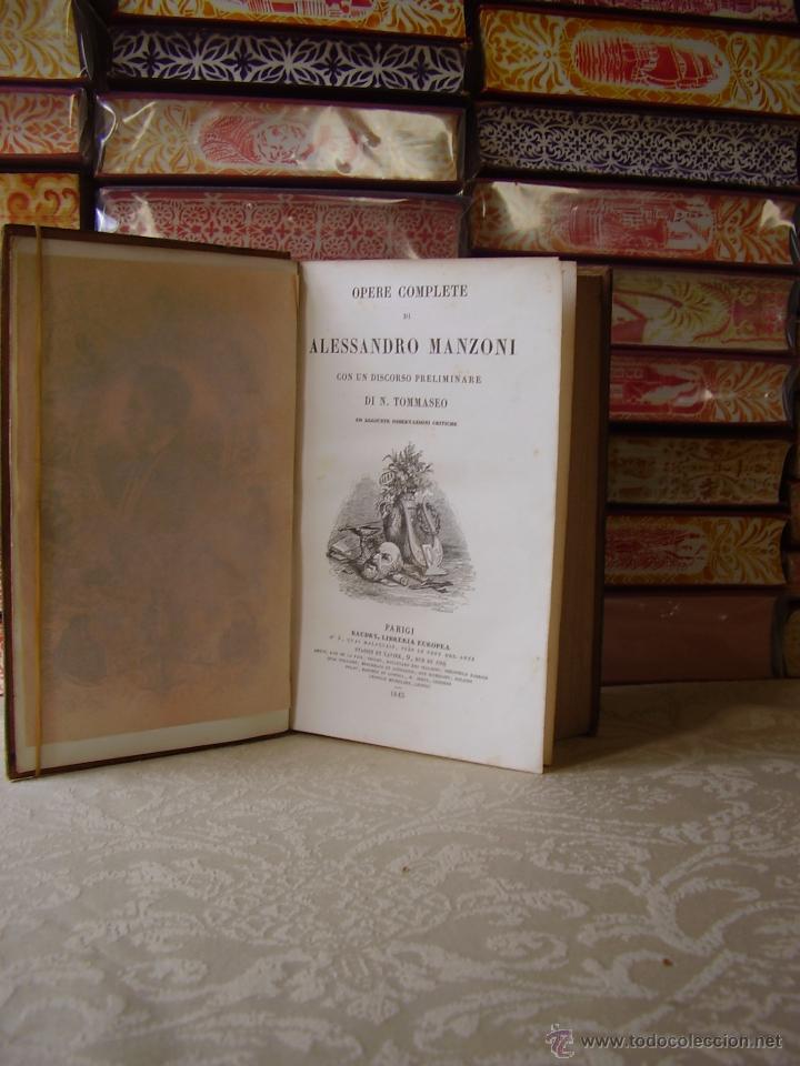 Libros antiguos: Opere Complete di Alessandro Manzoni con un discorso preliminare di N. 3 Teile in 1 Band . - Foto 3 - 49609708