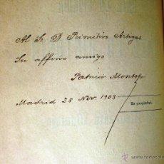 Libros antiguos: ANTE LA OPINIÓN Y ANTE LA HISTORIA. DEDICADO POR EL ALMIRANTE MONTOJO. AÑO 1900.. Lote 49614713
