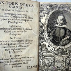 Libros antiguos: LIBRO PERTINENTIA LIBROS AD PHISIOLOGICOS HIPPOCRATIS , VINCENTIO TORDERA ,VALENCIA , 1670 ,ORIGINAL. Lote 49671951