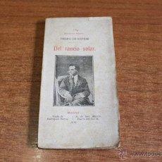 Libros antiguos: DEL RANCIO SOLAR. RÉPIDE, PEDRO DE. BIBLIOTECA MIGNON LIII. MADRID 1910.. Lote 49753141