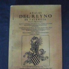 Libros antiguos: ANALES DEL REYNO DE VALENCIA-TOMO PRIMERO-PADRE MAESTRO FRAY-AÑO 1913-VALENCIA-LH156. Lote 49762106