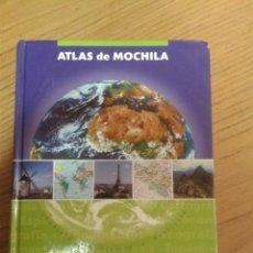 Libros antiguos: ATLAS DE MOCHILA 1ª EDICION 2005 VOX 346 PAGINAS TODO COLOR. Lote 49781431